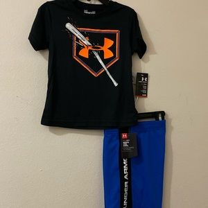 Boys 2t Under Armour short set - NWT